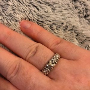 Lagos sterling silver caviar ring